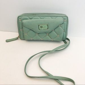 Betsey Johnson quilted crossbody wallet